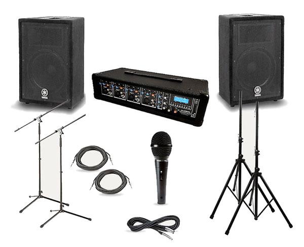 PA/Sound System: 4 Channel Mixer Setup