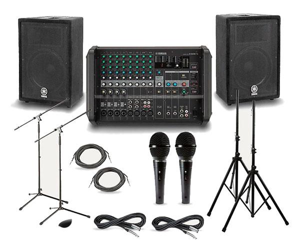 PA/Sound System: 8 Channel Mixer Setup